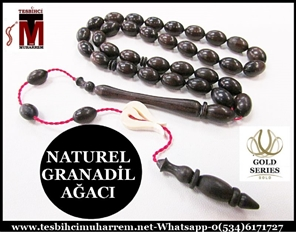 GRANADİL AĞACI TESBİH 7x11 mm NATUREL ALBUNEA