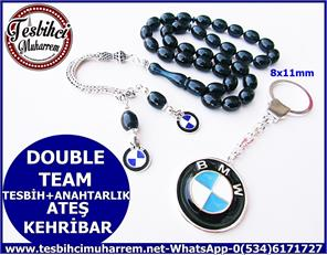 ATEŞ KEHRİBAR TESBİH 8*11 mm DOUBLE TEAM
