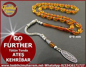 ATEŞ KEHRİBAR TESBİH 6*9 mm GO FURTHER